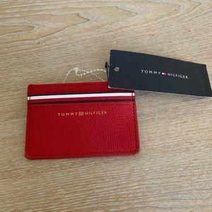 New Tommy Hilfiger Red Slim Card Holder